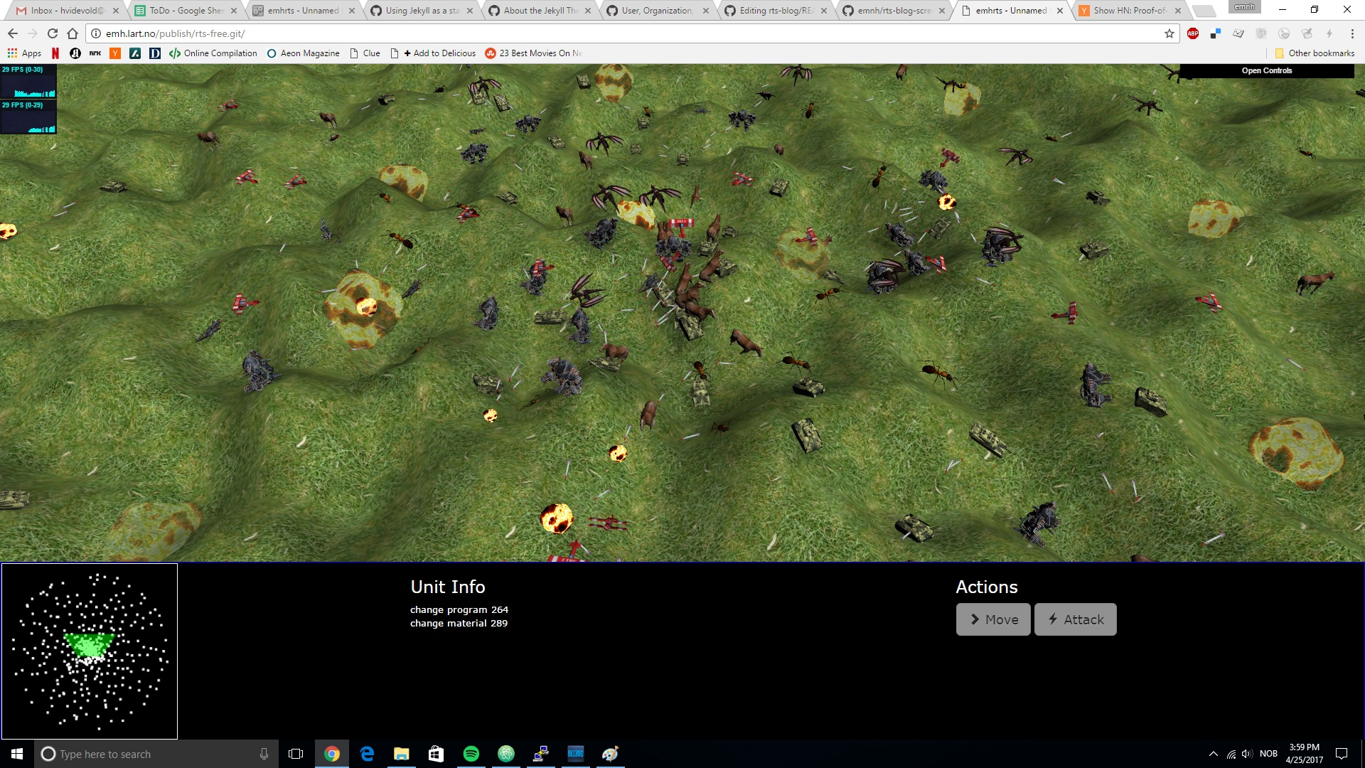 screenshot of rts-free